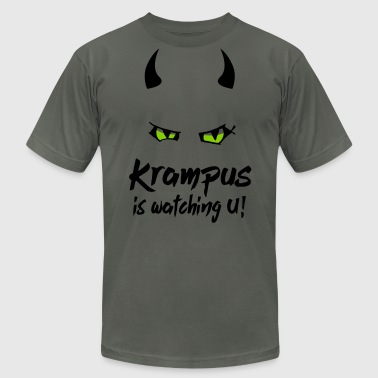 Krampus is watching U with evil eyes and horns - Men's Fine Jersey T-Shirt