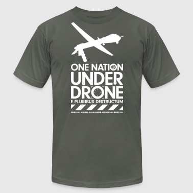 One Nation Under Drone - Support WikiLeaks - Men's Fine Jersey T-Shirt