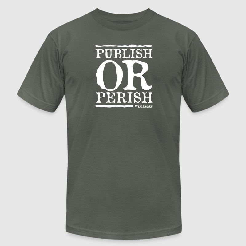 Publish or Perish - WikiLeaks - Men's Fine Jersey T-Shirt
