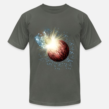 Galaxy Planet Explosion - Men's Fine Jersey T-Shirt