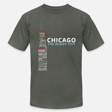 Chicago The Windy City - Men's  Jersey T-Shirt