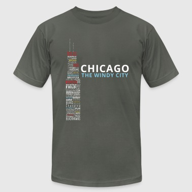 The Windy City - Men's Fine Jersey T-Shirt