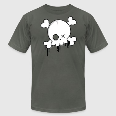 Spray Paint Skull - Men's Fine Jersey T-Shirt