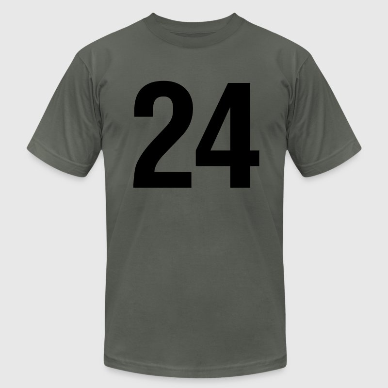 helvetica number 24 - Men's Fine Jersey T-Shirt