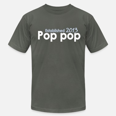 2013 Pop Pop Est 2013 - Men's Fine Jersey T-Shirt