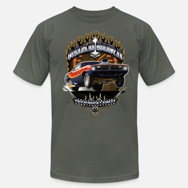 Muscle Car Barracuda Road Burn - Men's  Jersey T-Shirt