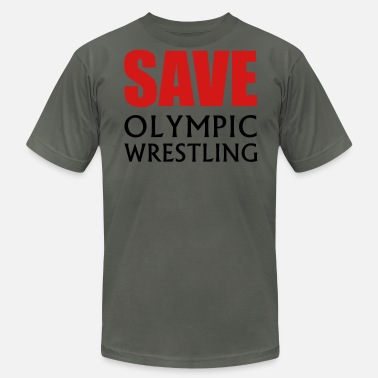 Save Wrestling Save Olympic Wrestling - Men's Fine Jersey T-Shirt