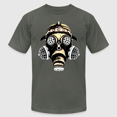 Steampunk-Cyberpunk Gas Mask #1B - Men's Fine Jersey T-Shirt