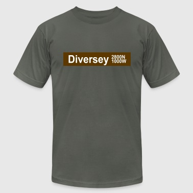 Diversey CTA Brown Line - Men's Fine Jersey T-Shirt