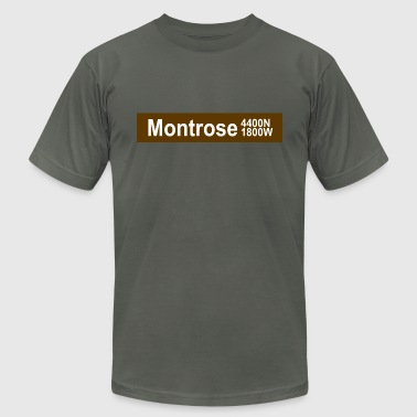 Montrose CTA Brown Line - Men's Fine Jersey T-Shirt