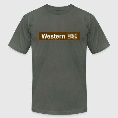 Western CTA Brown Line - Men's Fine Jersey T-Shirt