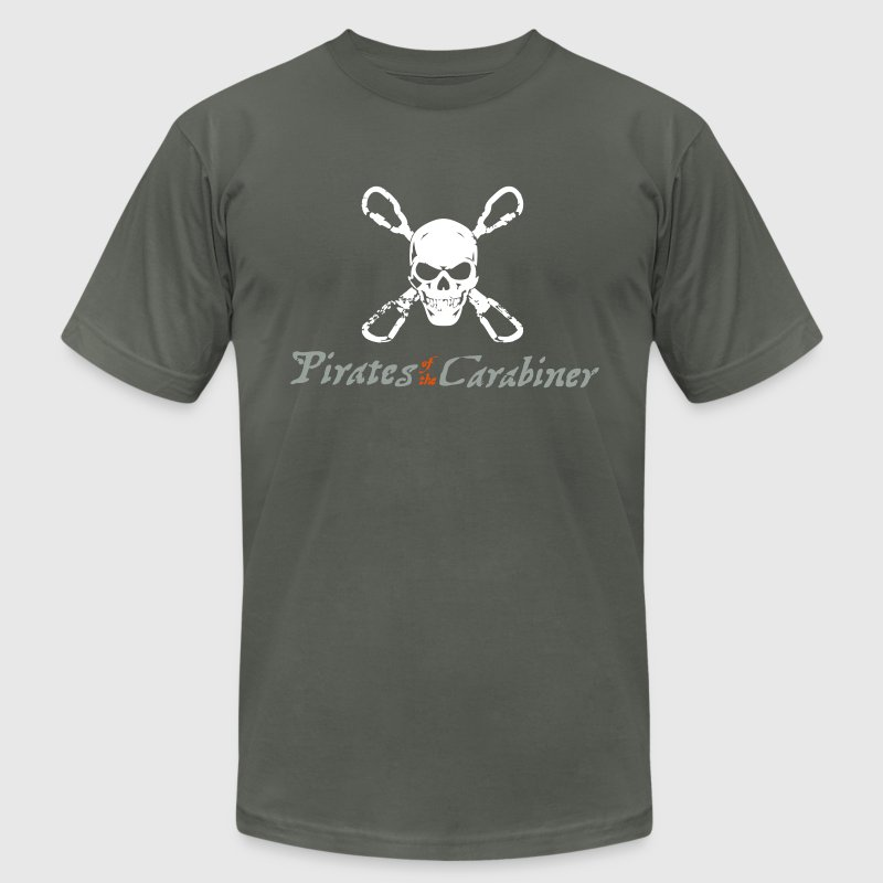 Pirates of the Carabiner (3-color vector) - Men's Fine Jersey T-Shirt