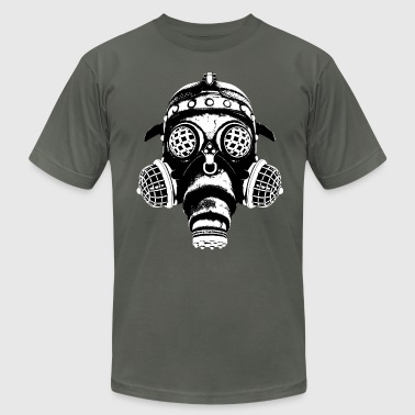 Steampunk-Cyberpunk Gas Mask #1A - Men's Fine Jersey T-Shirt