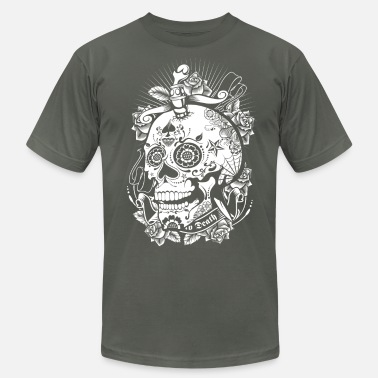 Mexican Sugar Skull Sugar Skull of Death - Men's  Jersey T-Shirt