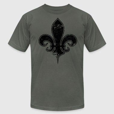 fleur de lis destroyed - Men's Fine Jersey T-Shirt