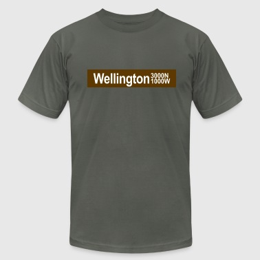 Wellington CTA Brown Line - Men's Fine Jersey T-Shirt