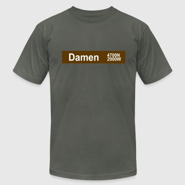Damen CTA Brown Line - Men's Fine Jersey T-Shirt