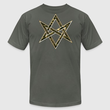 Aleister Crowley Unicursal Hexagram, Magic, Mystic, Occult, Symbol - Men's Fine Jersey T-Shirt