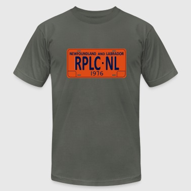 License Plate Republic of Newfoundland License Plate - Men's Fine Jersey T-Shirt