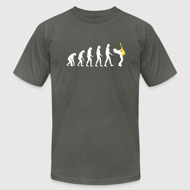 guitar player evolution - Men's Fine Jersey T-Shirt