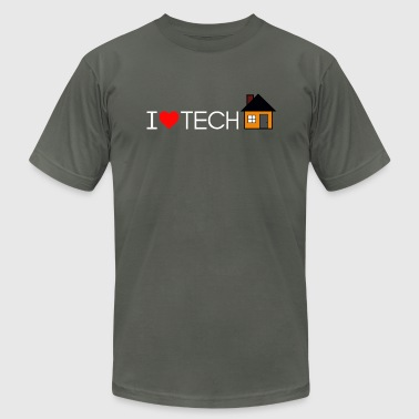 I Heart Tech-House Light - Men's Fine Jersey T-Shirt