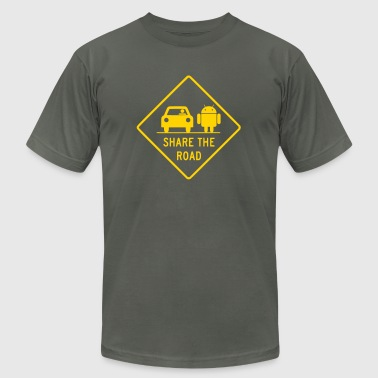 Autonom & share the road with androids - Men's Fine Jersey T-Shirt