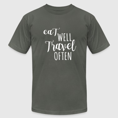 Eat well, Travel often - Men's Fine Jersey T-Shirt
