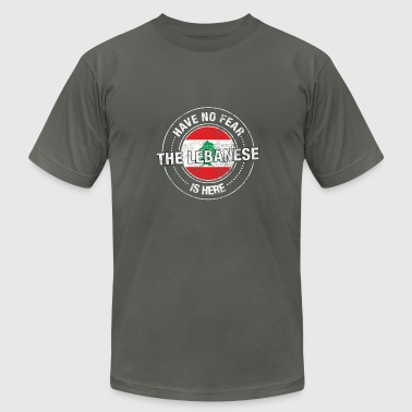 Have No Fear The Lebanese Is Here - Men's Fine Jersey T-Shirt