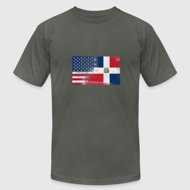 Half Dominican Half American 100% Awesome Dominica - Men's Fine Jersey T-Shirt