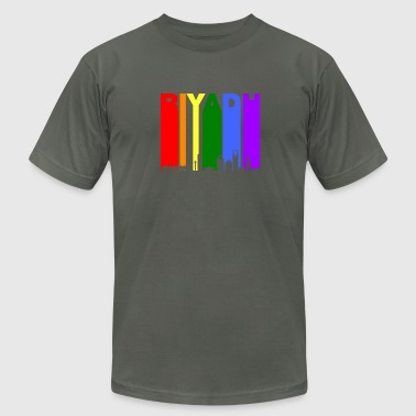 Riyadh Skyline Rainbow LGBT Gay Pride - Men's Fine Jersey T-Shirt