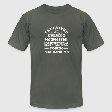 I Survived Nursing School I Set Unhealthy Coping - Men's Fine Jersey T-Shirt