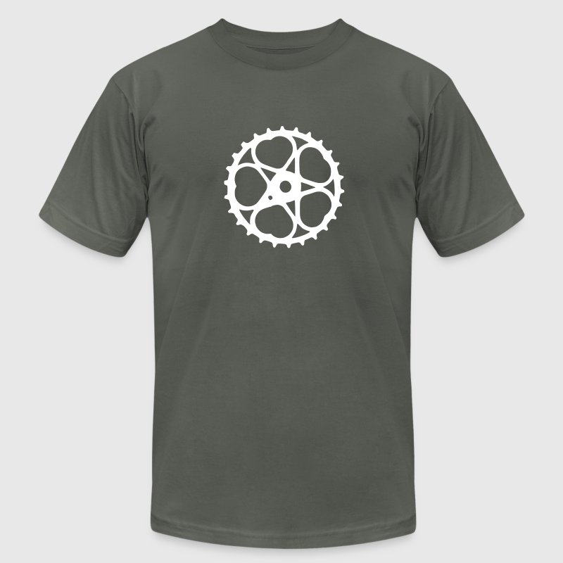 schwinn bicycle heart chainring - Men's Fine Jersey T-Shirt
