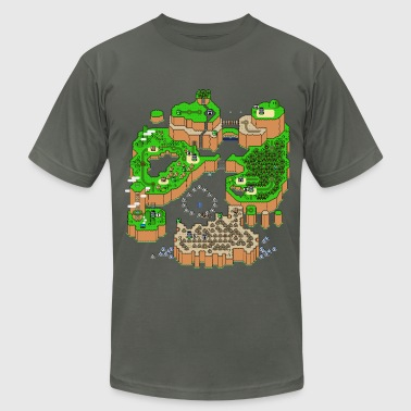 Mario Super Mario World Map - Men's Fine Jersey T-Shirt