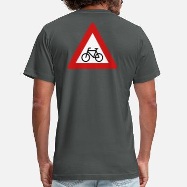 Yield Sign Bicycle Yield Sign - Men's Fine Jersey T-Shirt