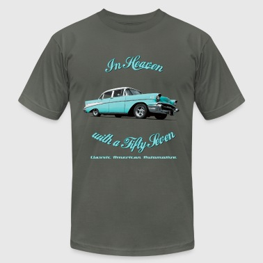 57-Chevy-Belair-2015 - Men's Fine Jersey T-Shirt