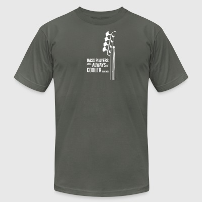 Bass Guitar Players Are Cool - Men's T-Shirt by American Apparel