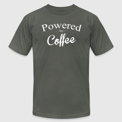Powered By Coffee - Men's T-Shirt by American Apparel