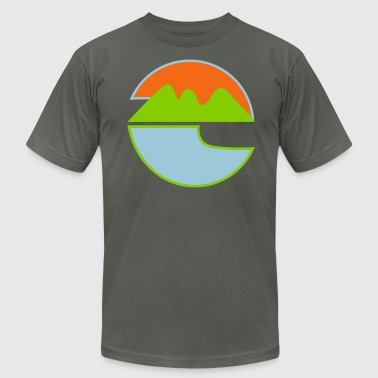 nature logo - Men's Fine Jersey T-Shirt