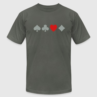 Poker Love - Men's Fine Jersey T-Shirt