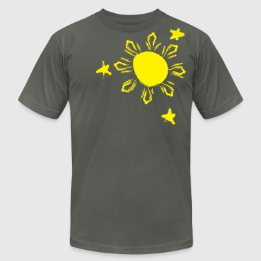 Skribble Sun n Stars - Philippines - Men's Fine Jersey T-Shirt