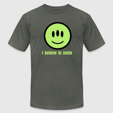 Smiley Alien Icon 2c - Men's Fine Jersey T-Shirt