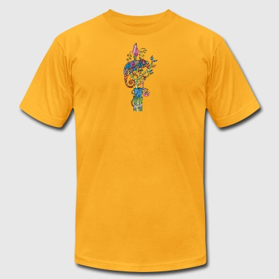 chameleon - Men's T-Shirt by American Apparel