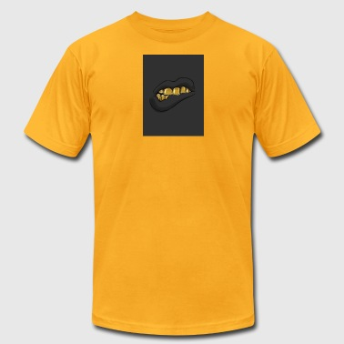 gold teeth grill - Men's T-Shirt by American Apparel
