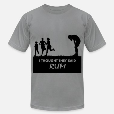 Funny Gym I thought they said rum - Men's Jersey T-Shirt