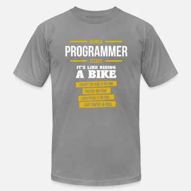 Being A Programmer Is Easy programmer - Men's  Jersey T-Shirt