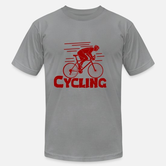 Crank T-Shirts - We Love Cycling - Premium Design - Men's Jersey T-Shirt slate