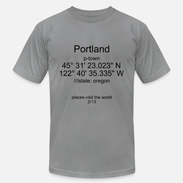 State Of Oregon Portland-places 2/13 - Men's  Jersey T-Shirt