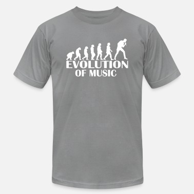 Human Evolution Music Evolution of Music - Music Fun Shirt - Men's Jersey T-Shirt