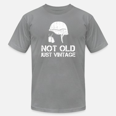 Old Army Star Not old just vintage funny veteran day army - Men's Fine Jersey T-Shirt