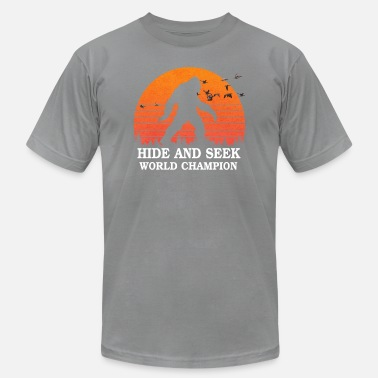 Bigfoot Hide And Seek Hide and seek world champion shirt bigfoot is real - Men's Jersey T-Shirt